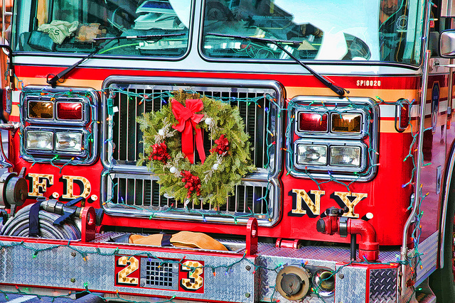 FDNY Takes Down Christmas Trees