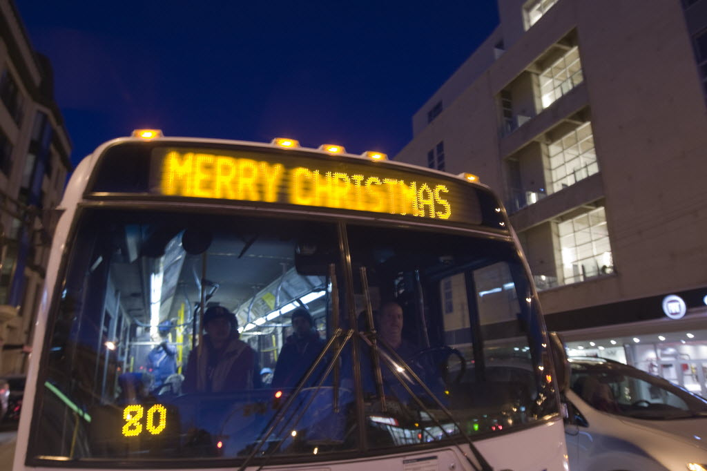 Canadian Buses Under Fire for Saying Merry Christmas