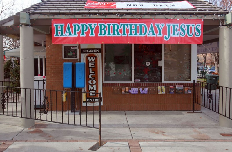 Happy Birthday Jesus Sign Won't Return to Utah Business
