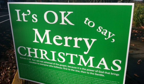 Merry Christmas Signs Return for 3rd Year